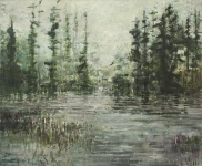 Skog og stort tjern 140x170 2013