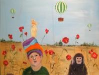Pojken apan och droemmen_ olja paa duk_ 89x116